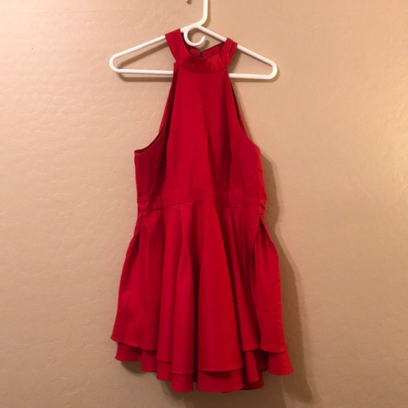 Short Red Halter Dresses